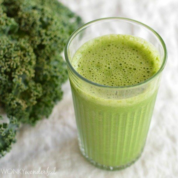 Kale Smoothie Recipes  Green Smoothie Recipe Grapefruit and Kale WonkyWonderful