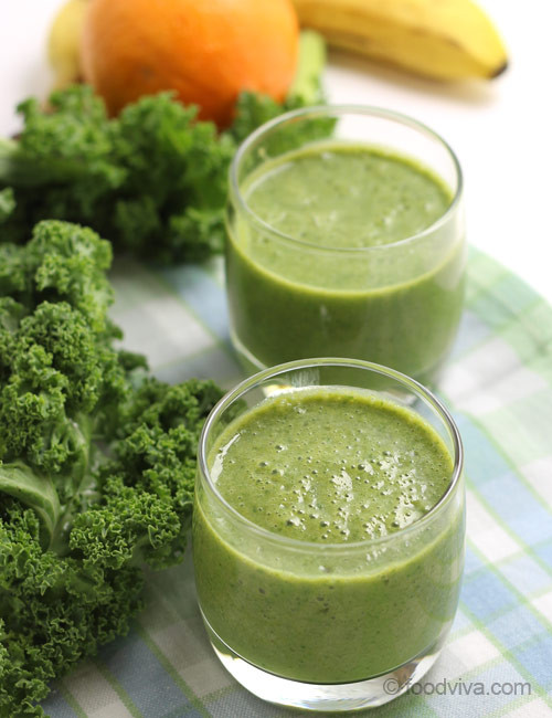 Kale Smoothie Recipes  Healthy Kale Smoothie Raw Kale Smoothie Recipe with Banana
