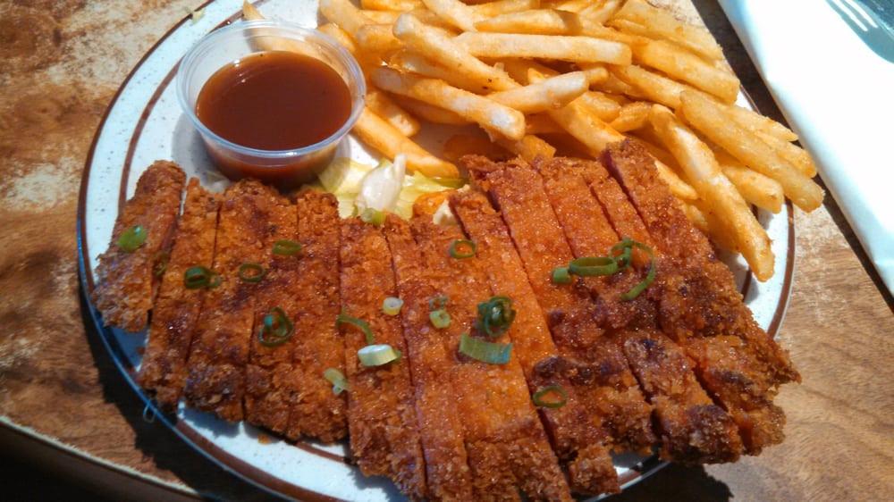 "Kens House Of Pancakes  Char siu chicken katsu from the ""lighter stuffs"" menu Yelp"