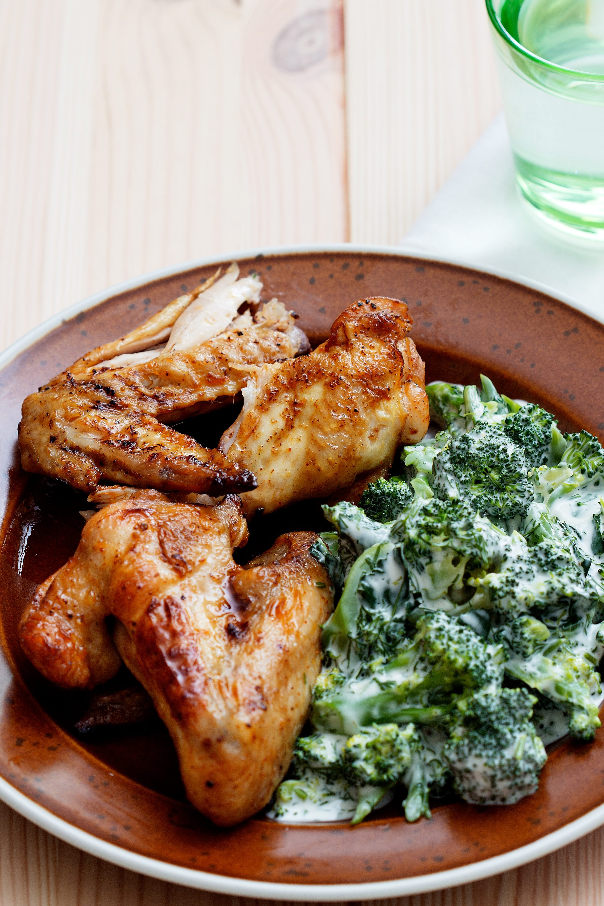 Keto Baked Chicken  Keto chicken wings with creamy broccoli Diet Doctor