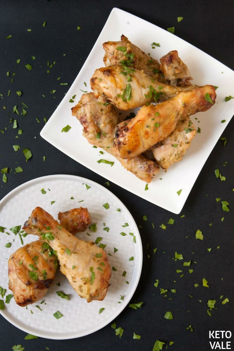 Keto Baked Chicken  Baked Chicken Drumsticks with Mustard and Garlic