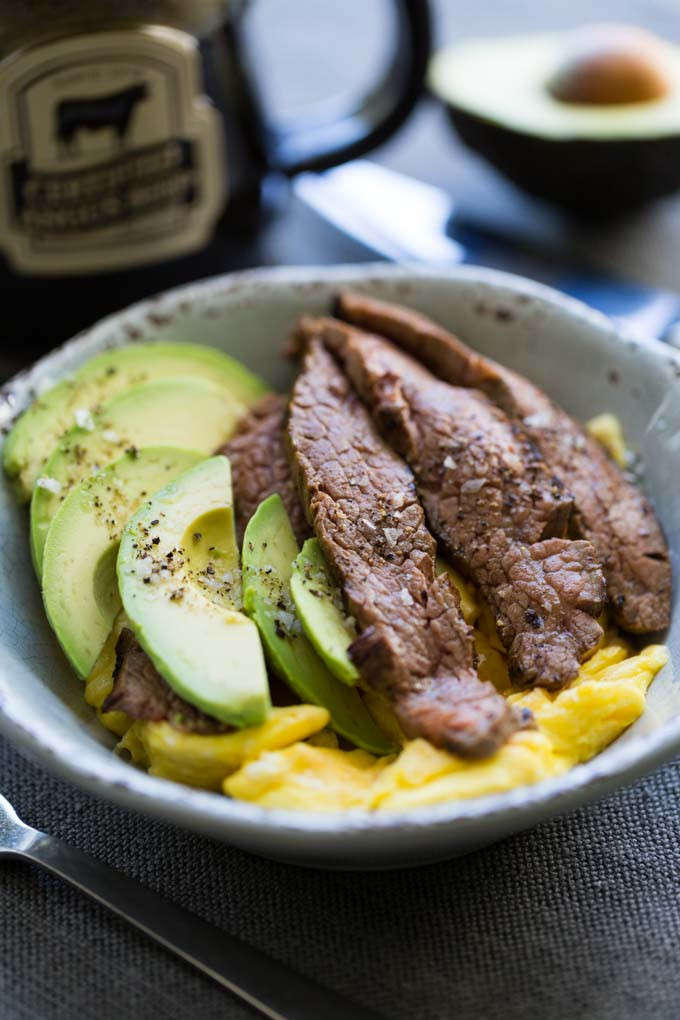 Keto Breakfast Eggs  Steak and Egg Breakfast Bowl Keto • Recipe for Perfection