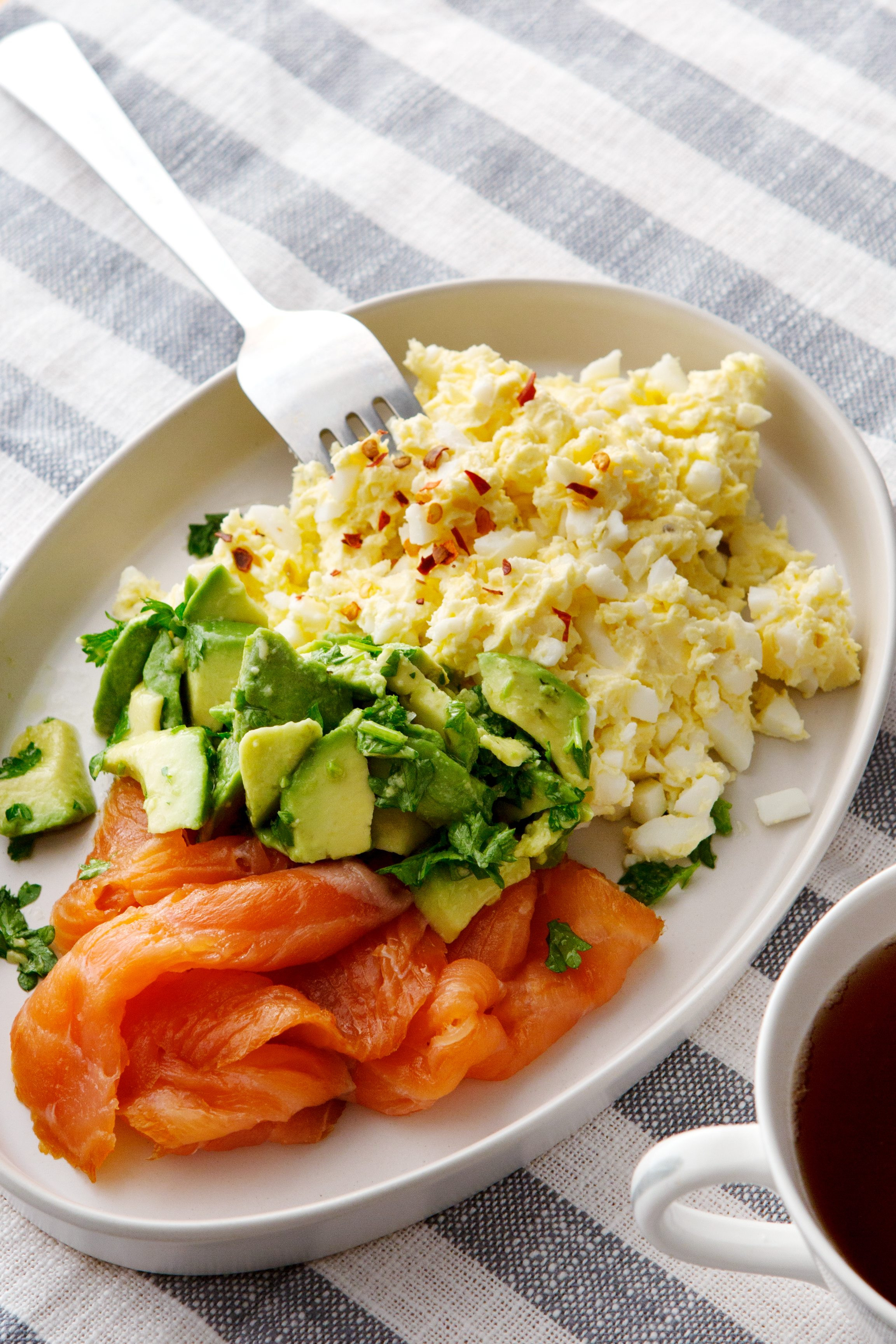 Keto Breakfast Eggs  Keto egg butter with smoked salmon and avocado Diet Doctor