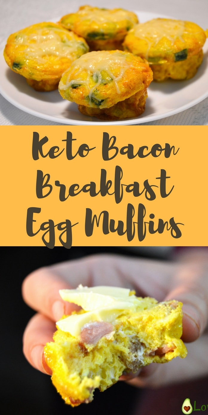 Keto Breakfast Eggs  Keto Bacon Breakfast Egg Muffins Perfect Macros & Low in