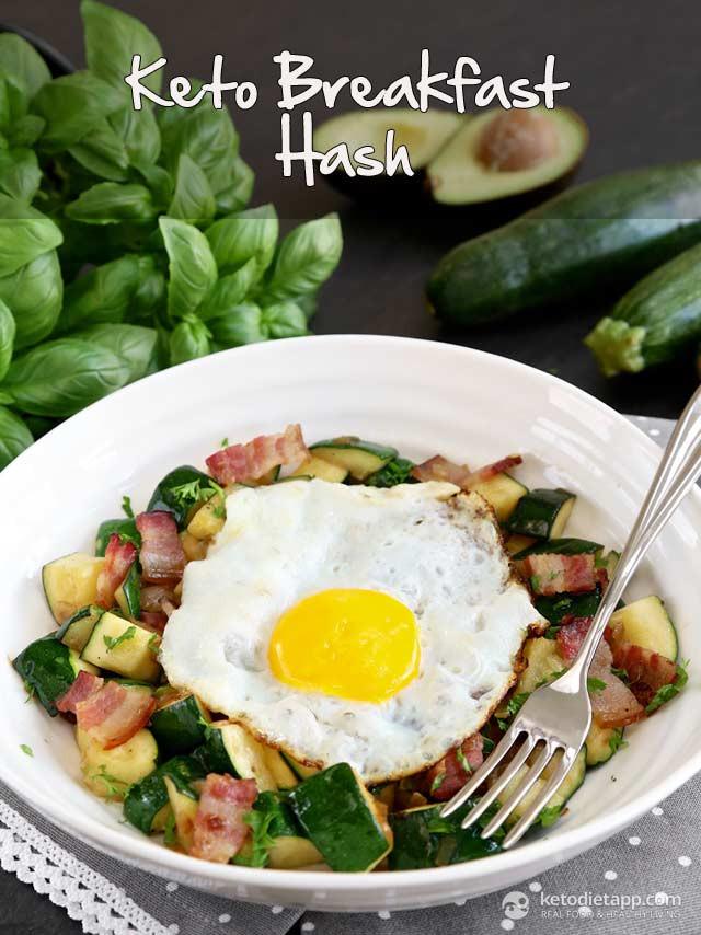 Keto Breakfast Recipes  Keto Zucchini Breakfast Hash