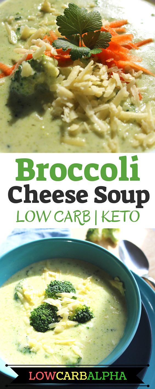 Keto Broccoli Soup  Keto Broccoli and Cheddar Cheese Healthy Soup