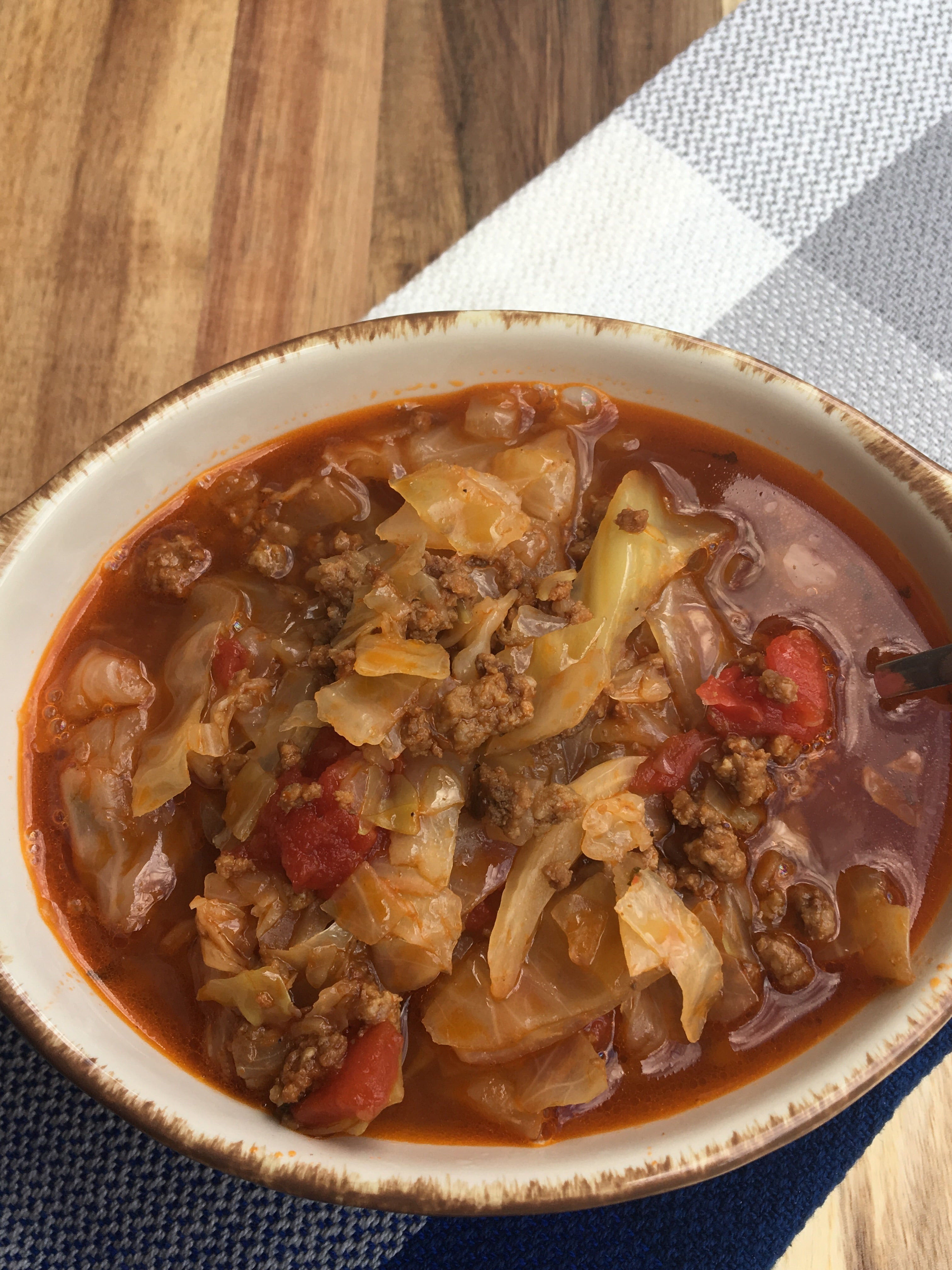 Keto Cabbage Soup  Keto Low Carb Unstuffed Cabbage Roll Soup Instant Pot or