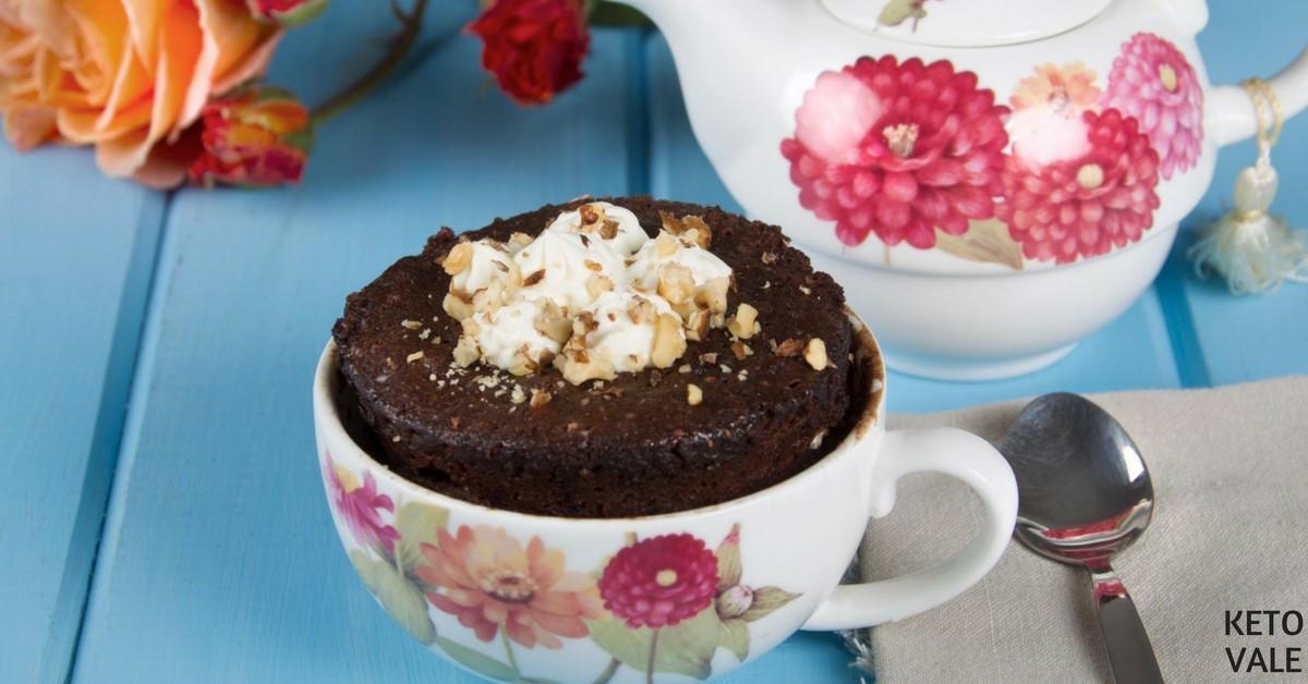 Keto Cake In A Mug  5 Minute Keto Chocolate Cake in a Mug Low Carb Recipe