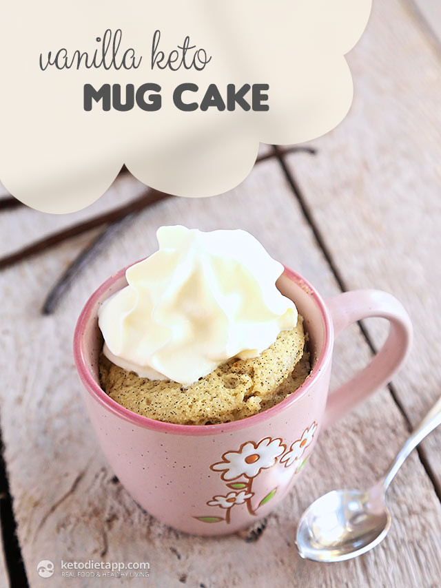 Keto Cake In A Mug  Vanilla Keto Mug Cake