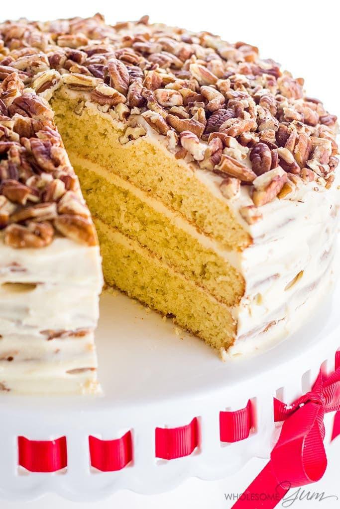 Keto Cake Recipes  Vanilla Gluten Free Keto Birthday Cake Recipe Sugar Free