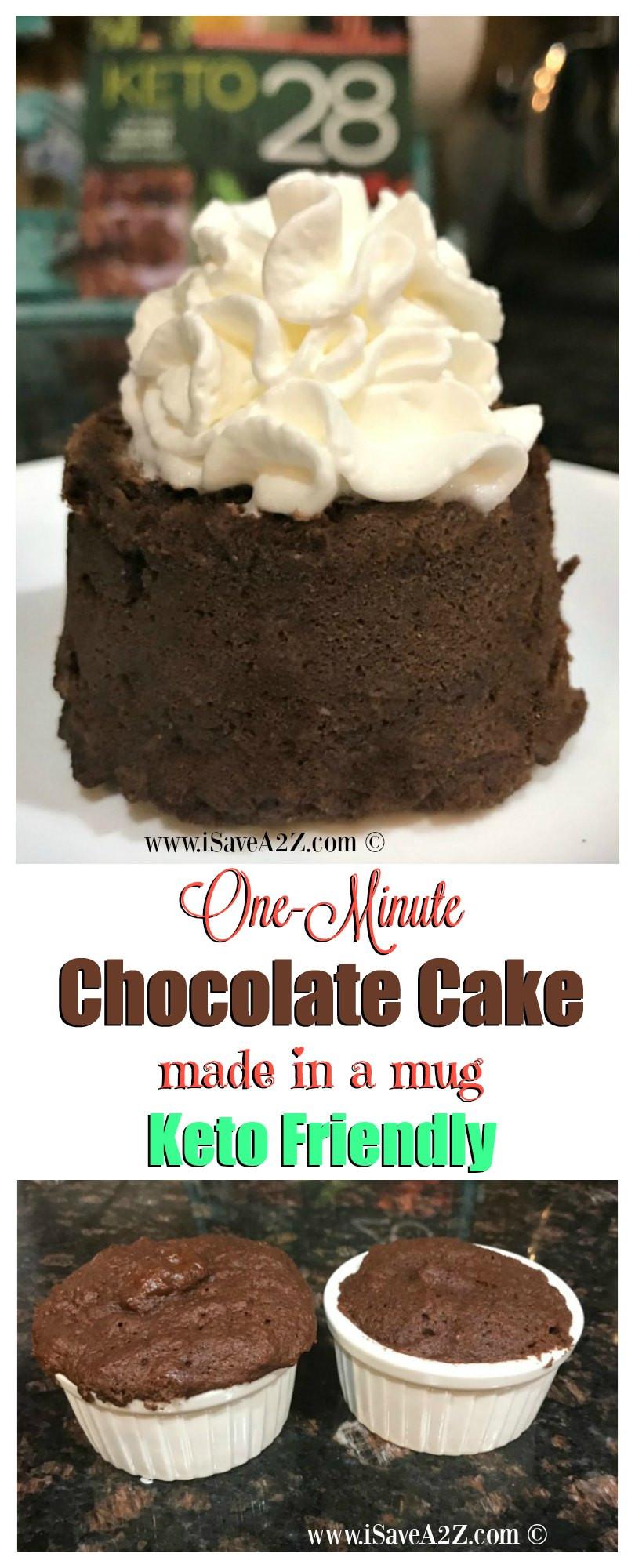 Keto Cake Recipes  e Minute Keto Chocolate Mug Cake iSaveA2Z