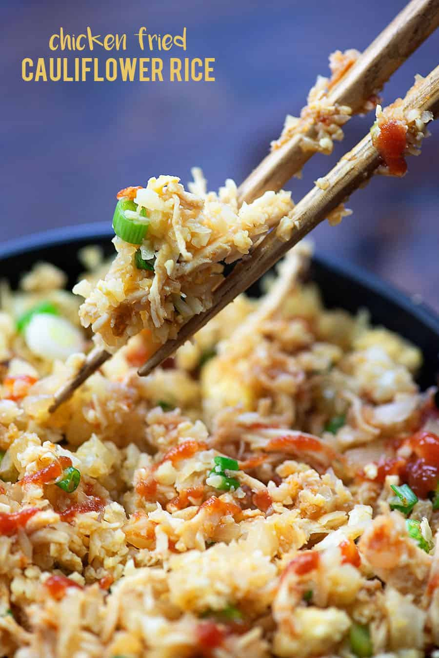 Keto Cauliflower Fried Rice  Cauliflower Chicken Fried Rice