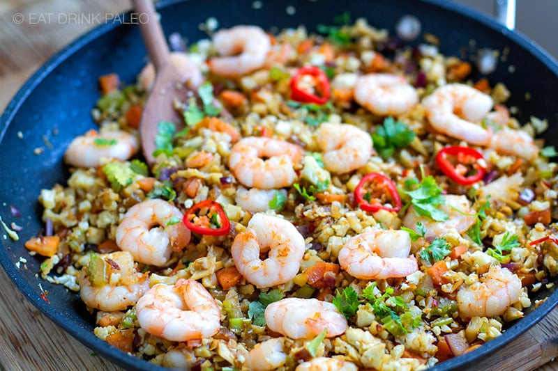 Keto Cauliflower Fried Rice  Lemongrass Cauliflower Shrimp Fried Rice Paleo Whole30