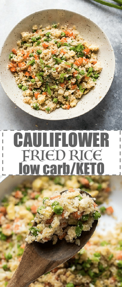 Keto Cauliflower Fried Rice  Keto Cauliflower Fried Rice Recipe Low Calorie Low Carb