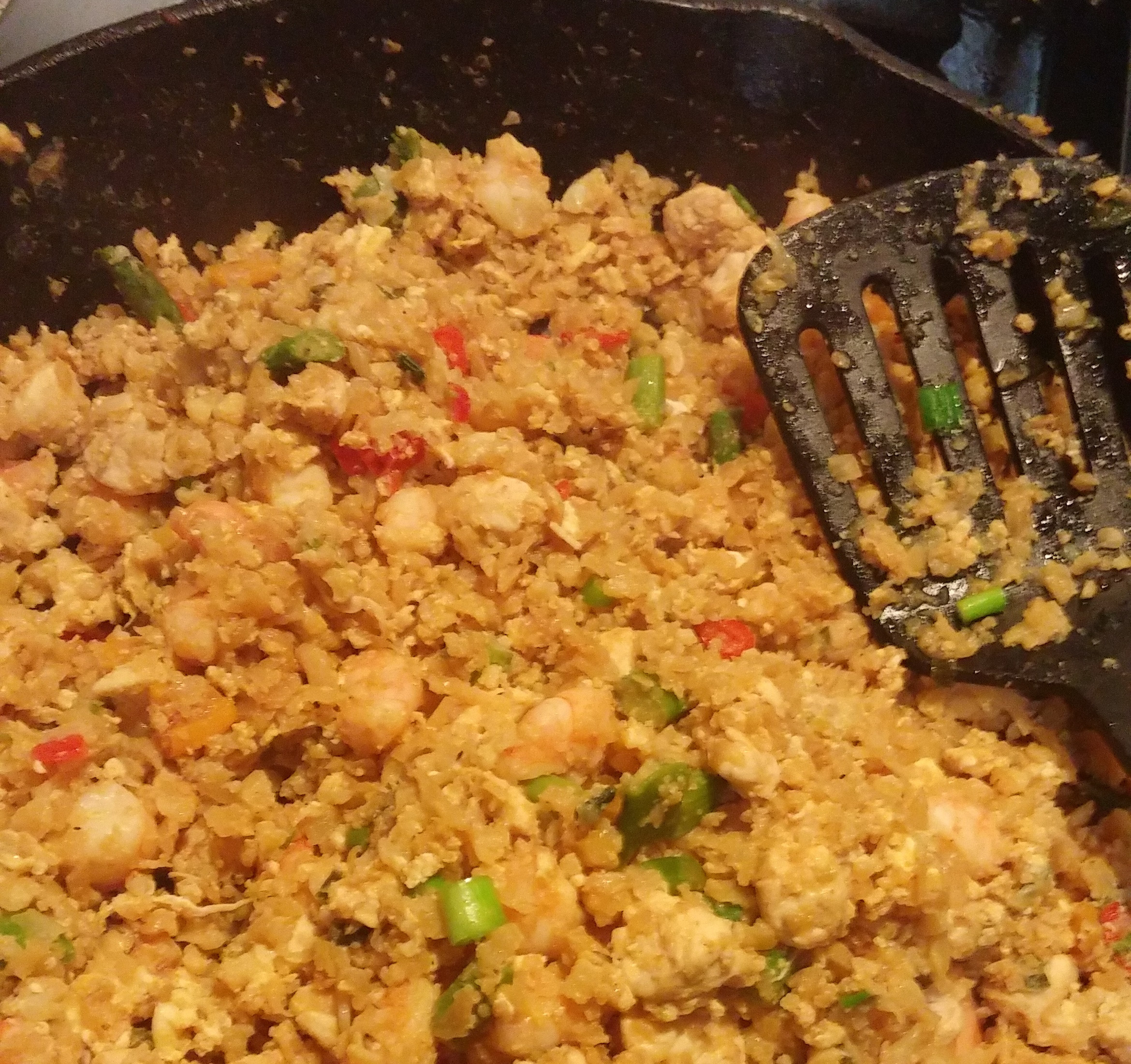 Keto Cauliflower Fried Rice  Super Cauliflower istic Keto Fried Rice Recipe