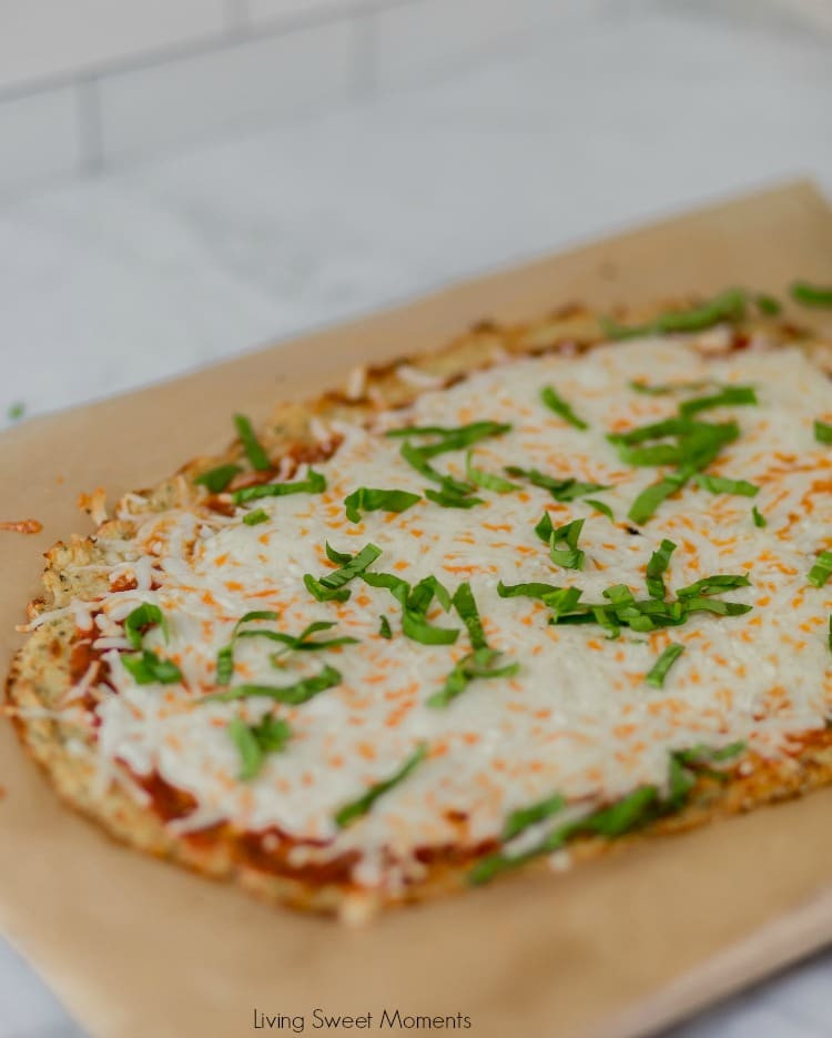 Keto Cauliflower Pizza  Low Carb Cauliflower Pizza Crust Living Sweet Moments