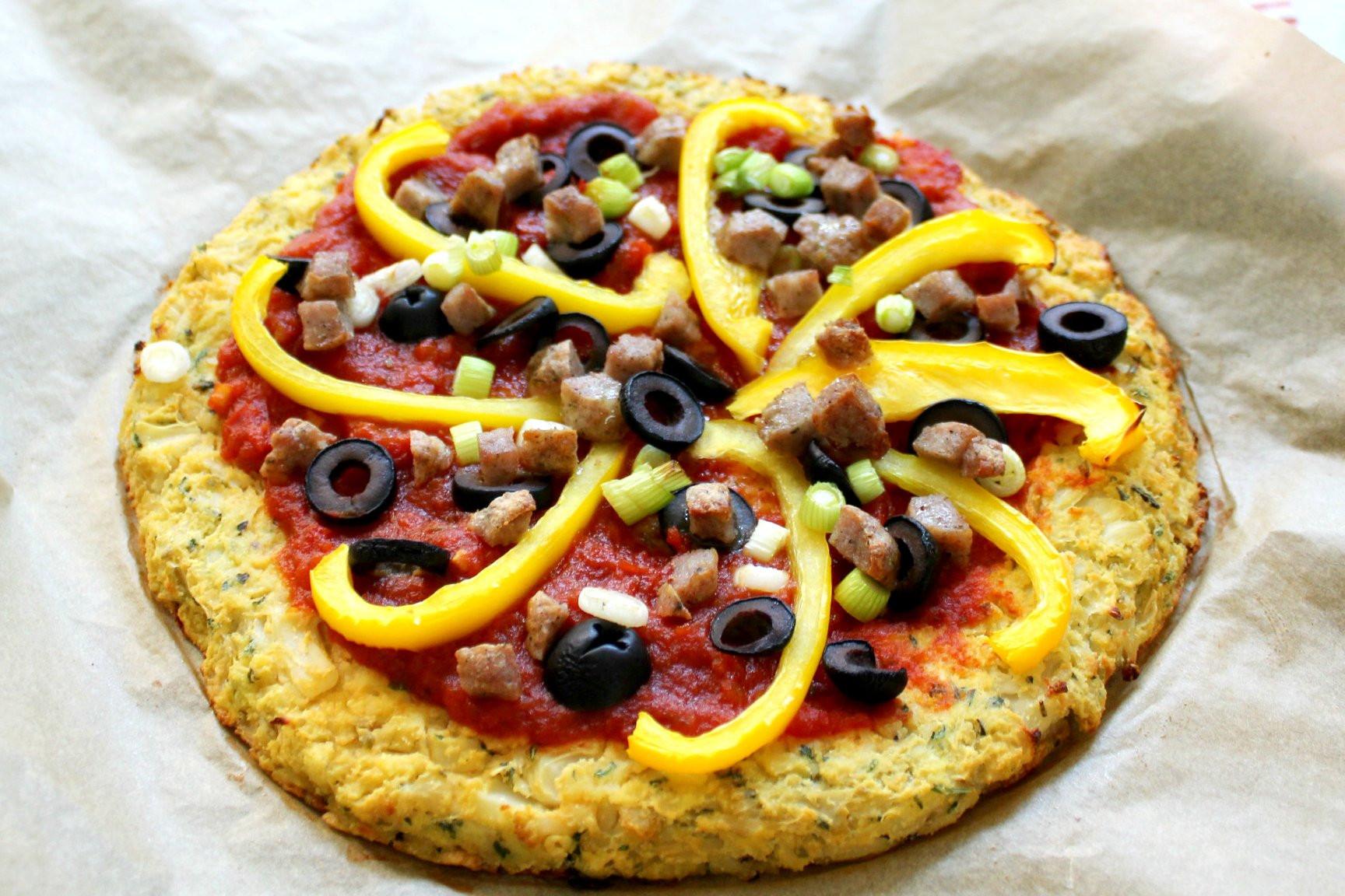 Keto Cauliflower Pizza  Dairy Free Keto Cauliflower Pizza Crust Health Home