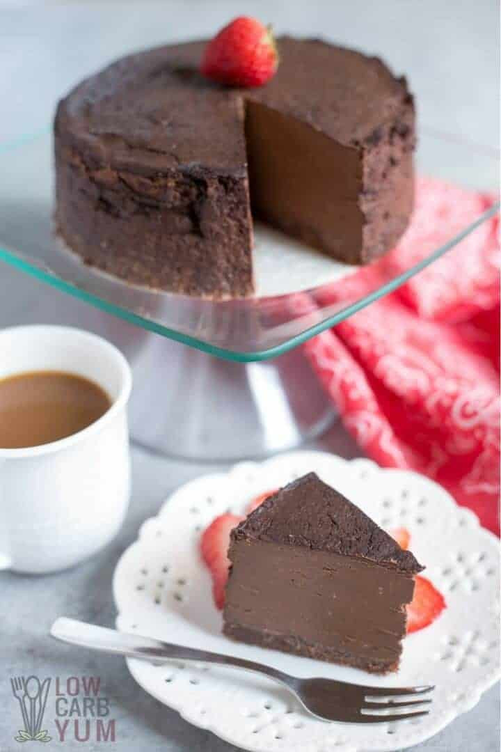 Keto Cheesecake Recipe  Keto Chocolate Cheesecake Baked in Pressure Cooker