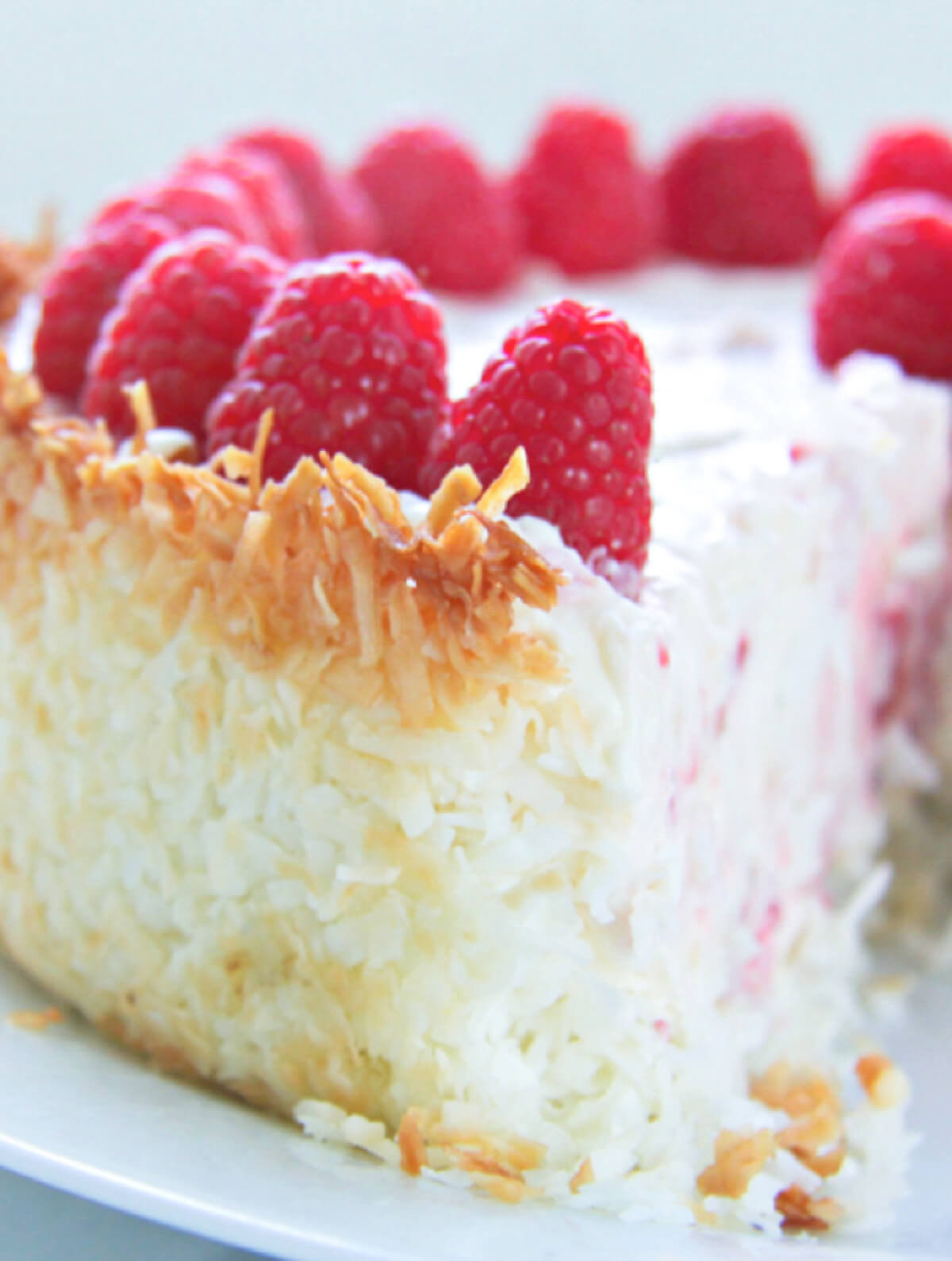 Keto Cheesecake Recipe  Keto Raspberry Cheesecake with Coconut Crust