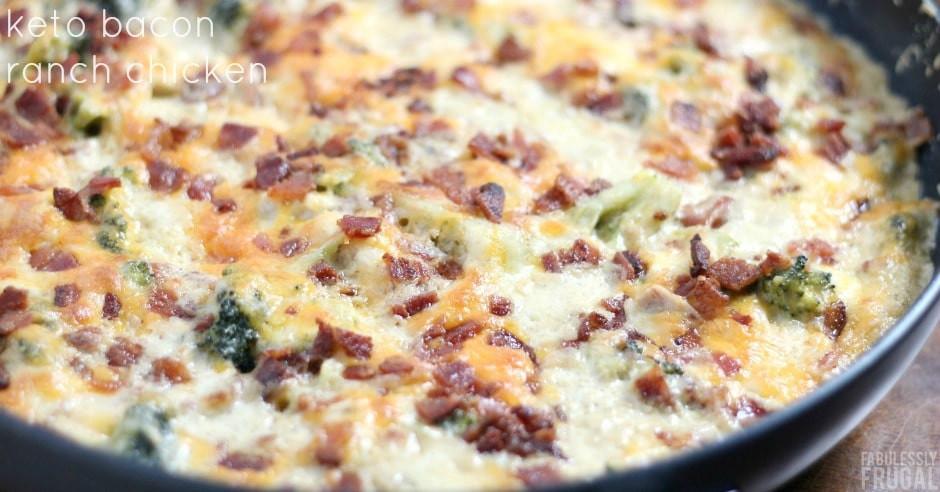 Keto Chicken Bacon Ranch Casserole  Keto Bacon Ranch Chicken Recipe Recipes Fabulessly Frugal