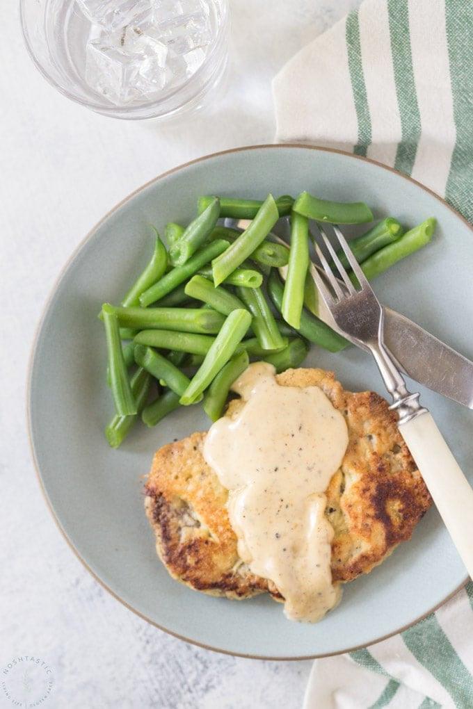 Keto Chicken Fried Steak  Keto Low Carb Chicken Fried Steak Noshtastic