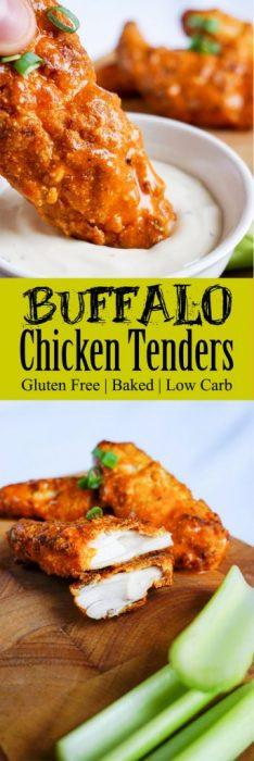 Keto Chicken Tenders  Baked Keto Chicken Tenders in Buffalo Sauce KetoConnect