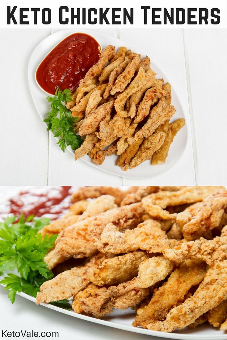 Keto Chicken Tenders  Keto Fried Chicken Tenders with Almond Flour Low Carb