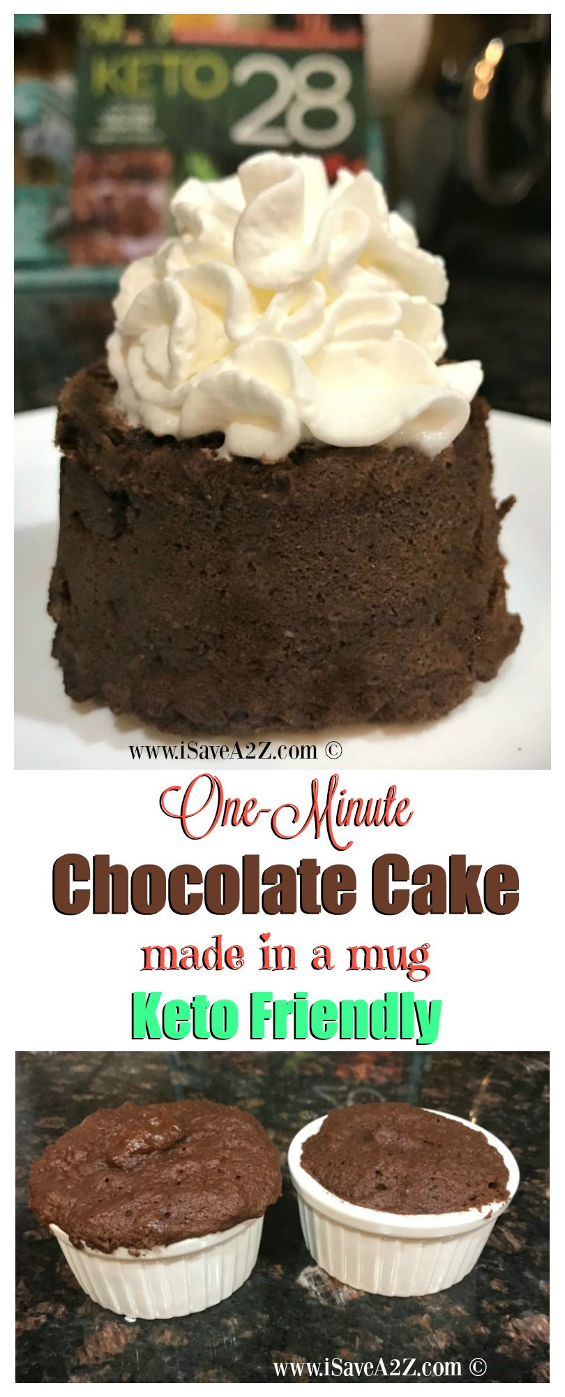 Keto Chocolate Cake Recipe  e Minute Keto Chocolate Mug Cake iSaveA2Z