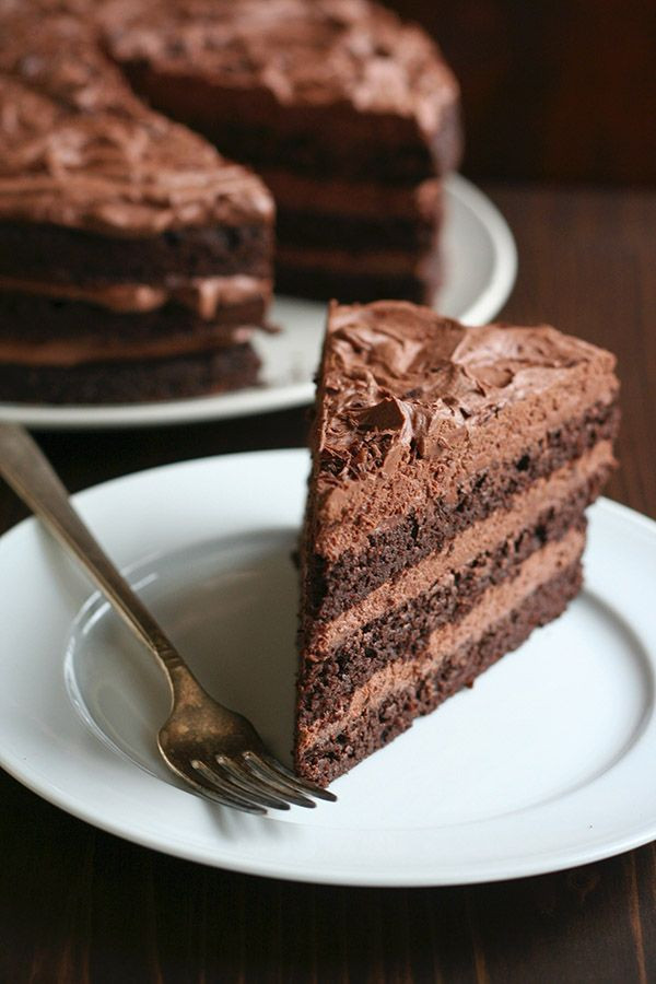 Keto Chocolate Cake Recipe  Low Carb Chocolate Layer Cake with Whipped Ganache