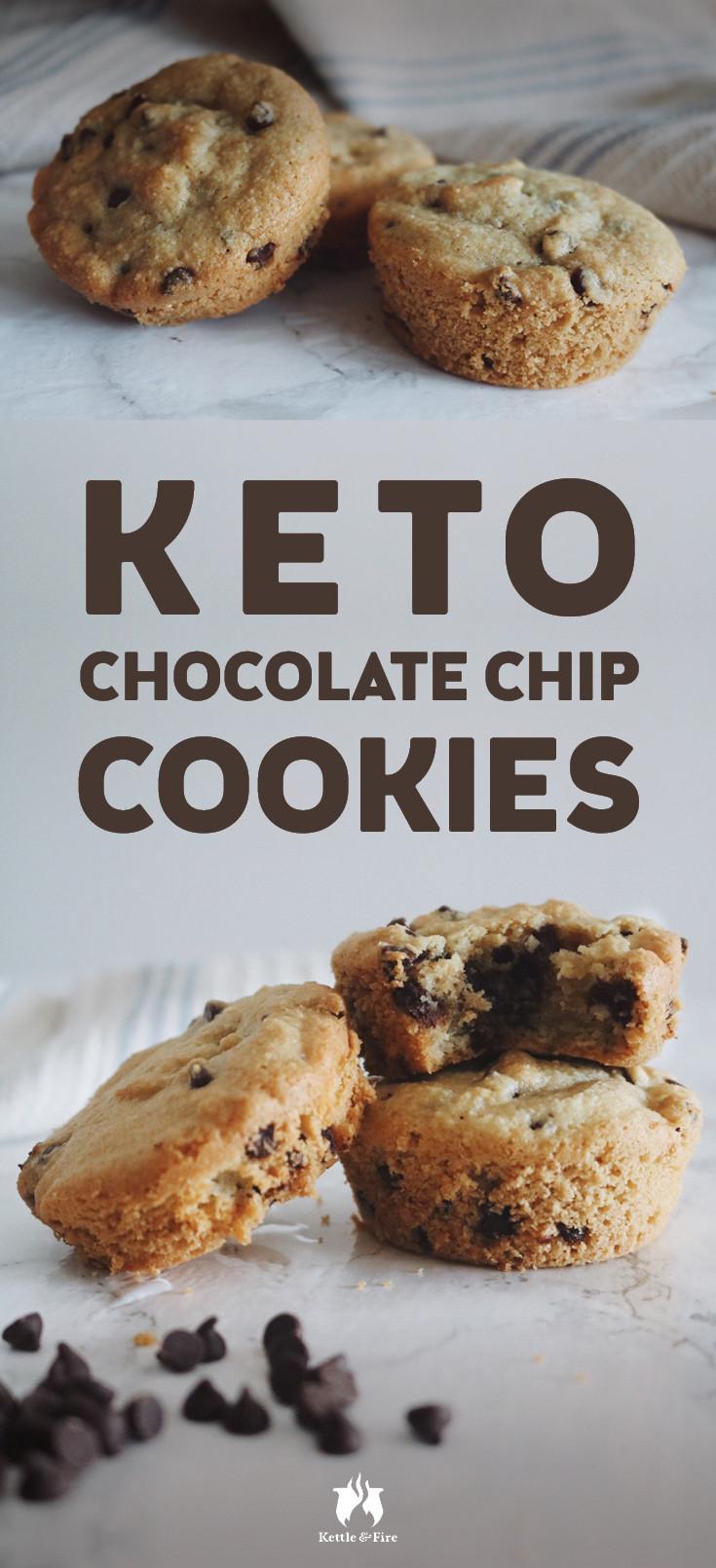 Keto Chocolate Chip Cookies  Keto Chocolate Chip Cookies