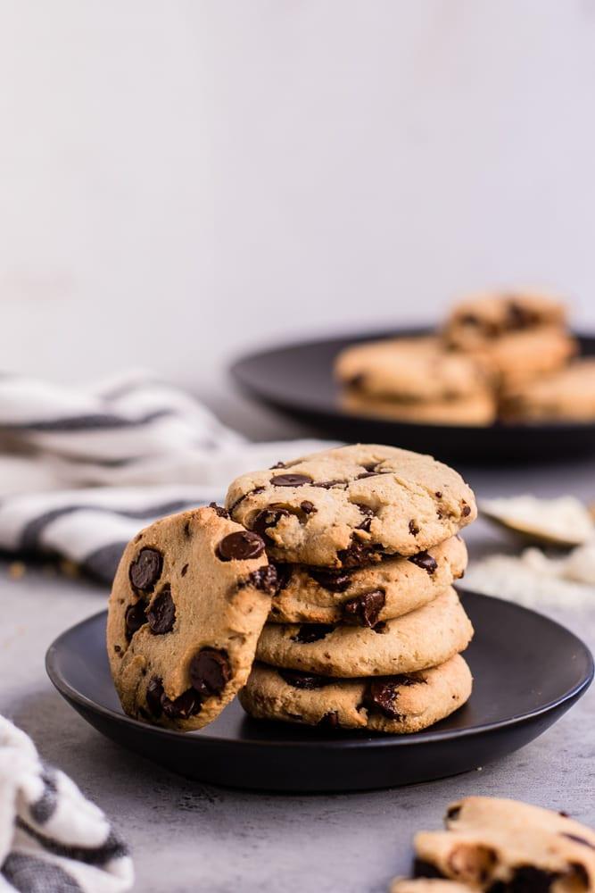Keto Chocolate Chip Cookies  Healthy Keto Friendly Chocolate Chip Cookies — Peanut