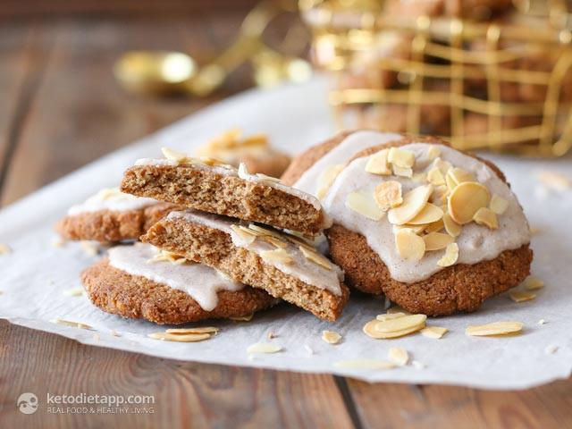 Keto Christmas Cookies  Keto Glazed Anise Holiday Cookies