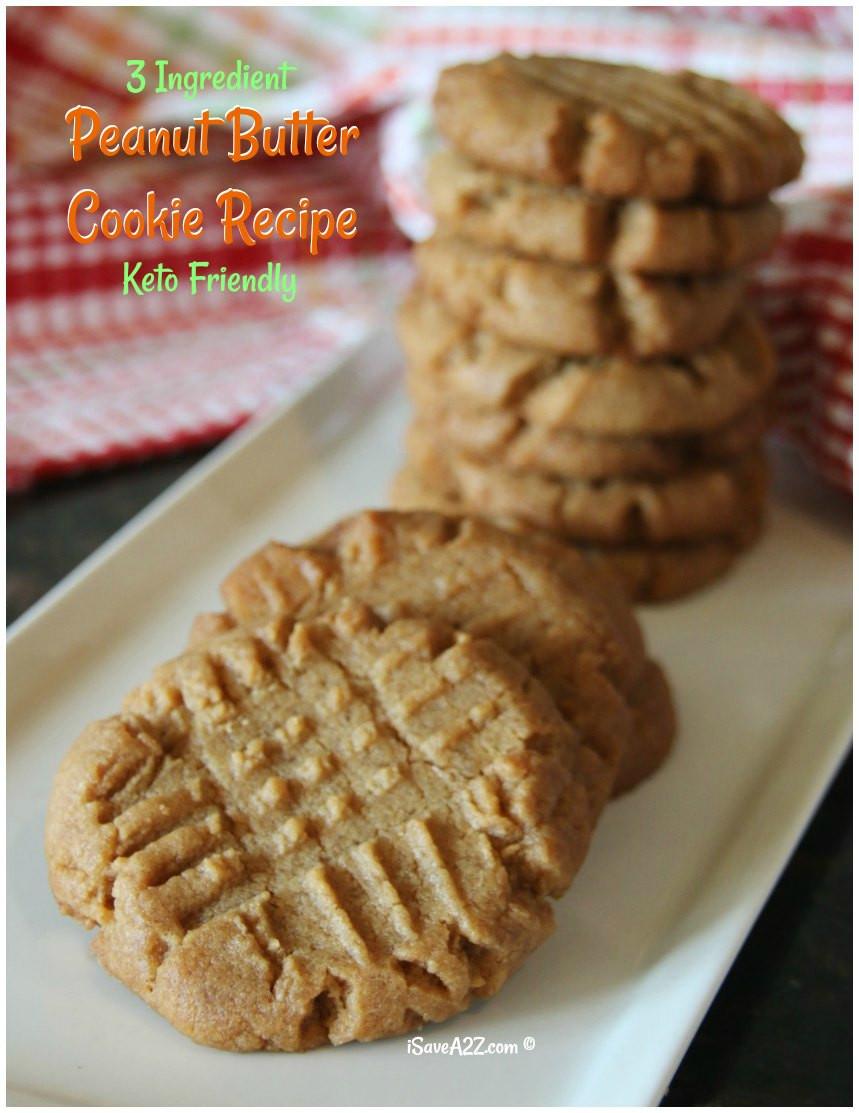 Keto Cookies Peanut Butter  3 Ingre nt Keto Peanut Butter Cookies Recipe iSaveA2Z