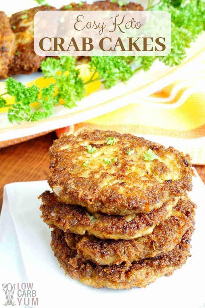 Keto Crab Cakes  Easy Keto Crab Cakes Recipe with Pork Rinds