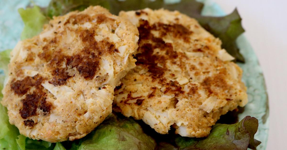 Keto Crab Cakes  Low Carb Vegan Crab Cakes