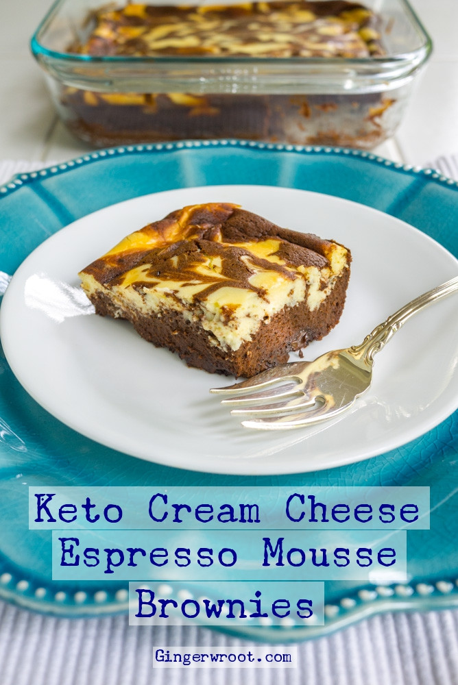 Keto Dessert Cream Cheese  Keto Cream Cheese Espresso Brownies are gluten free and