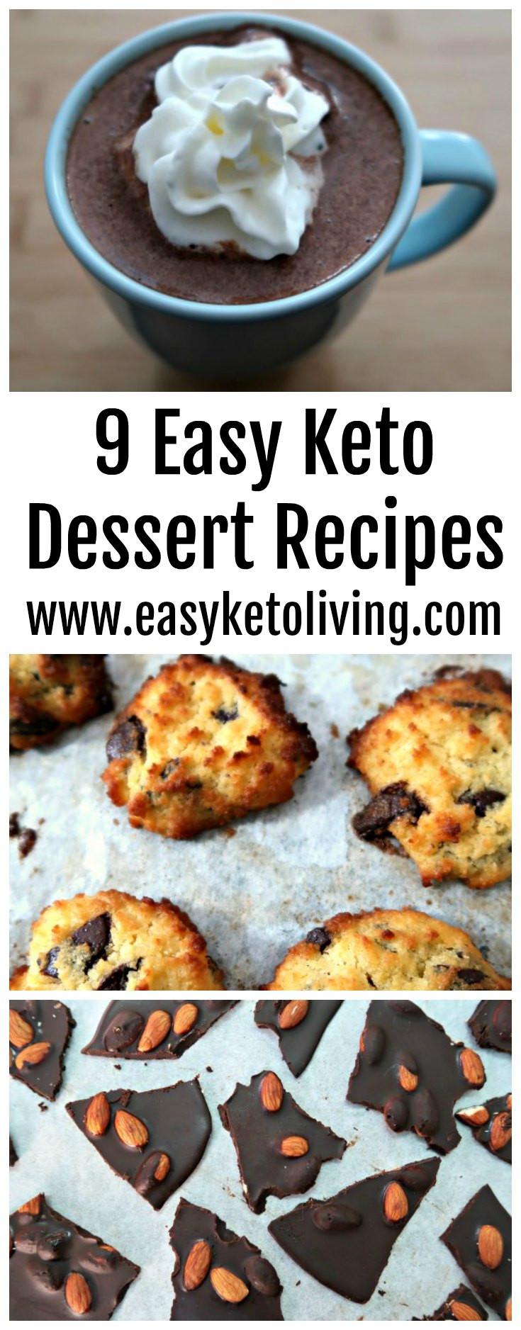 Keto Diet Dessert Recipes  9 Easy Keto Dessert Recipes Quick Low Carb Ketogenic
