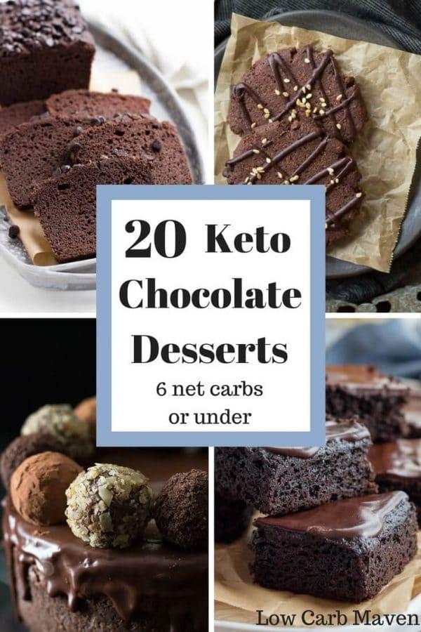 Keto Diet Dessert Recipes  20 Decadent Chocolate Keto Desserts Under 6 net carbs