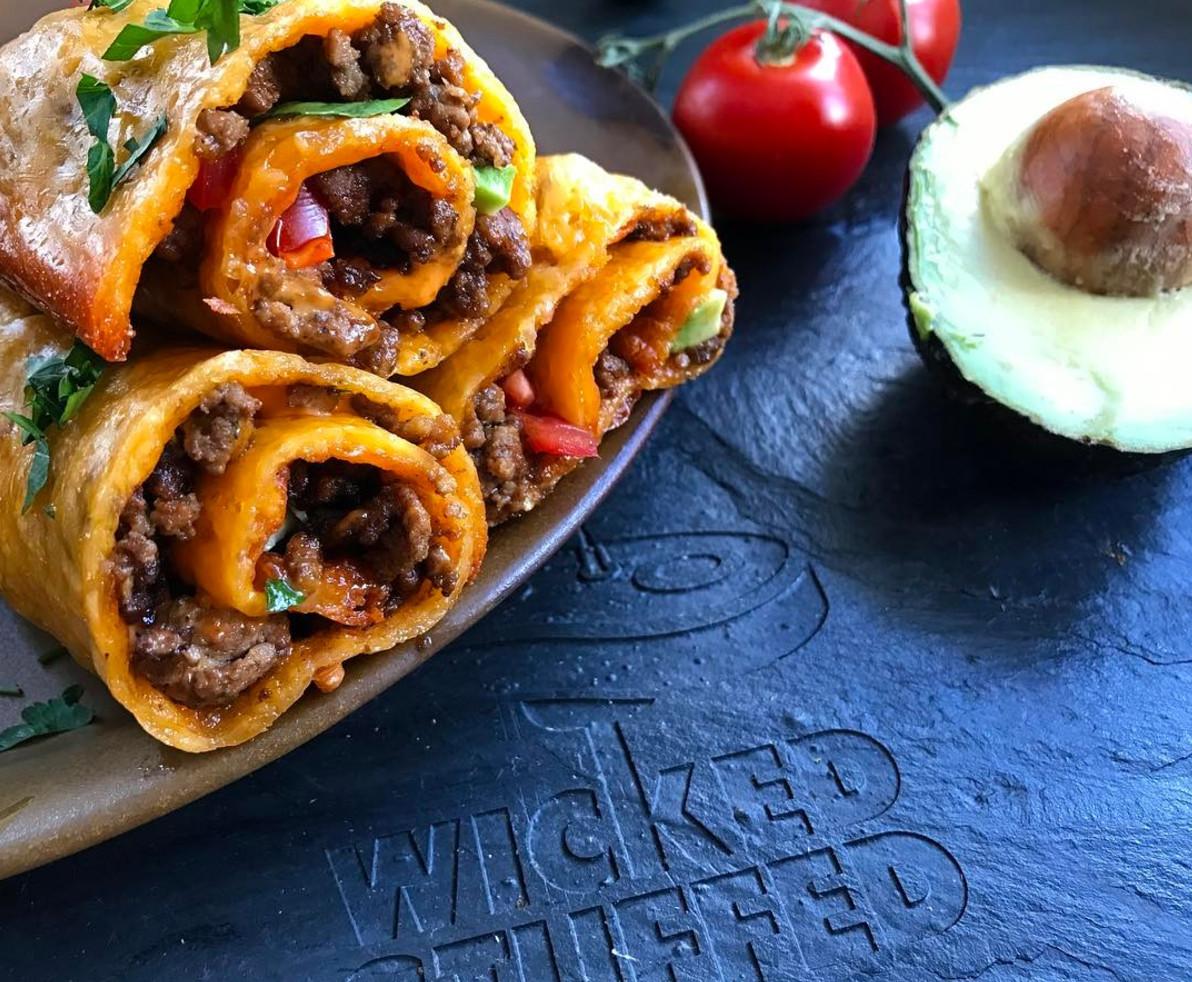 Keto Dinner Recipe  Cheddar Wrapped Taco Rolls Keto Grain Free
