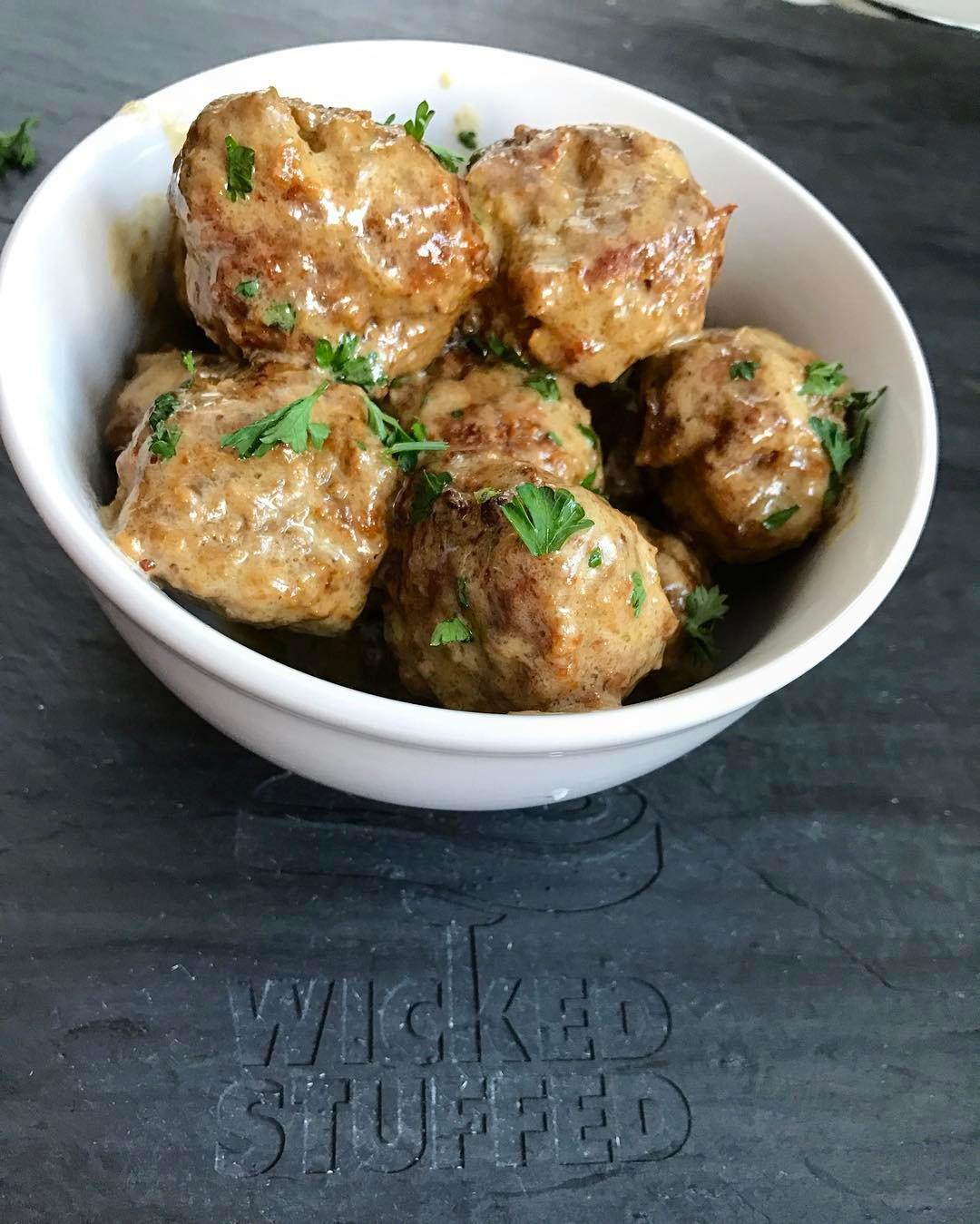 Keto Dinner Recipes  Keto Swedish Meatballs Grain Free & Low Carb