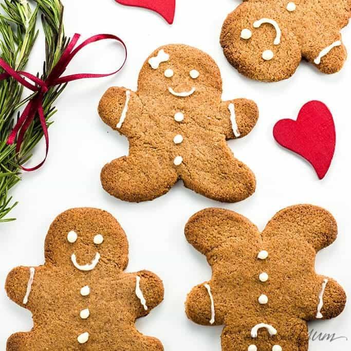 Keto Gingerbread Cookies  Keto Sugar free Low Carb Gingerbread Cookies Recipe VIDEO