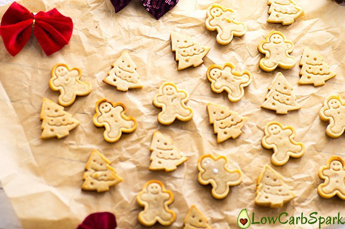 Keto Gingerbread Cookies  Christmas Keto Gingerbread Cookies Low Carb Sugar free