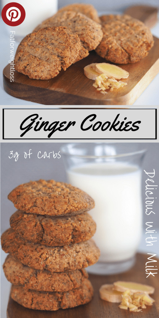 Keto Gingerbread Cookies  Ginger and Clove Keto Cookies Recipe FatForWeightLoss