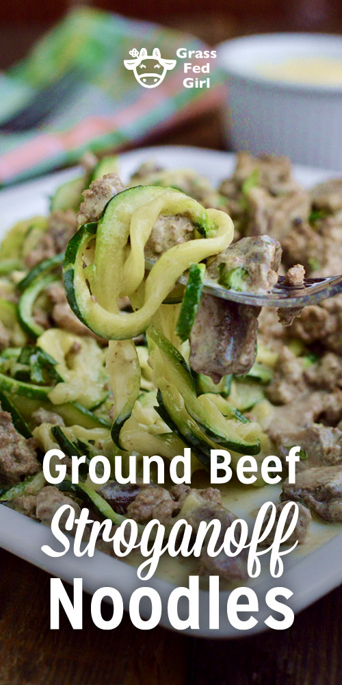 Keto Ground Beef Stroganoff  Keto Ground Beef Stroganoff Noodles