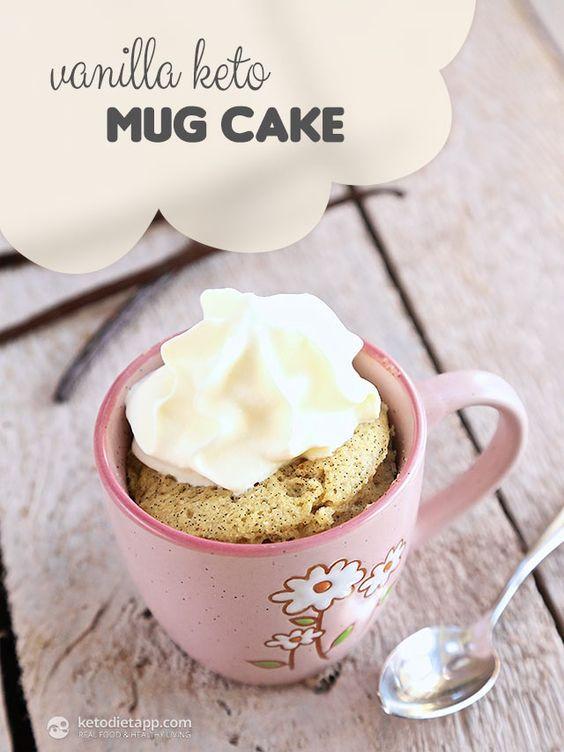 Keto Mug Cake Coconut Flour  Cakes Almond flour and Eggs on Pinterest