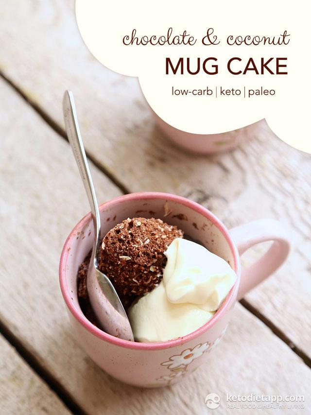 Keto Mug Cake Coconut Flour  Chocolate & Coconut Mug Cake