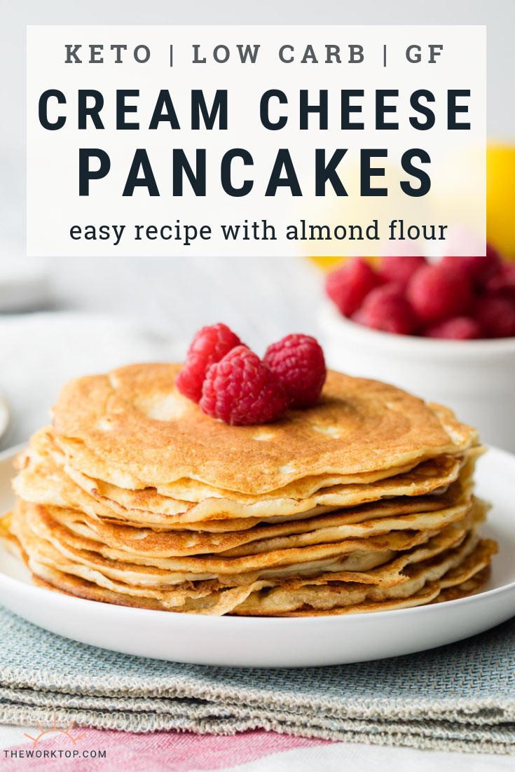 Keto Pancakes With Cream Cheese  Keto Cream Cheese Pancakes with Almond Flour