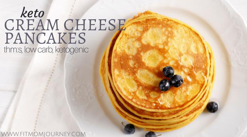 Keto Pancakes With Cream Cheese  Keto Cream Cheese Pancakes Fit Mom Journey