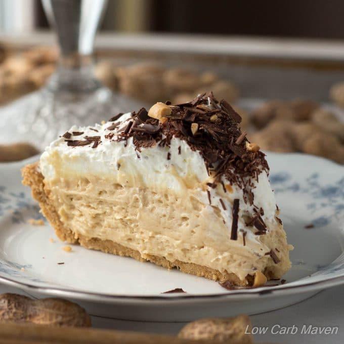Keto Peanut Butter Pie  Low Carb Peanut Butter Pie
