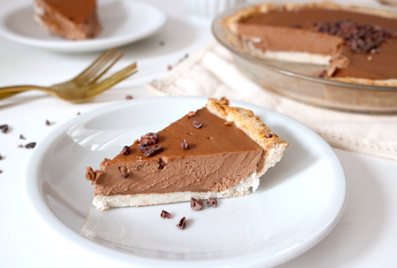 Keto Peanut Butter Pie  Vegan Keto Chocolate Almond Butter Pie